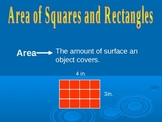 Area of Squares and Rectangles