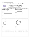 Area of Squares and Rectangles Practice