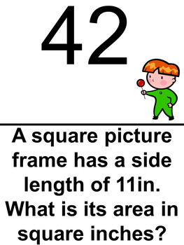 Area of Squares and Rectangles Scavenger Hunt- Easier Problems
