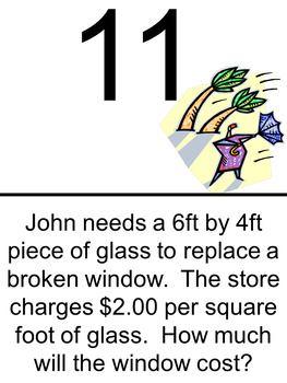 Area & Perimeter of Squares and Rectangles Scavenger Hunt- Harder Problems