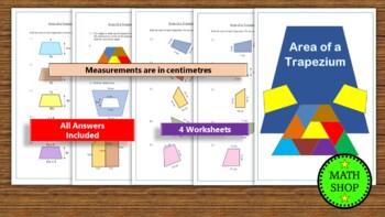 Area of a Trapezium Worksheet – (cm) – Revision - GCSE - maths