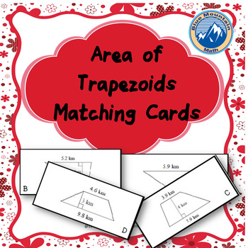 Area of Trapezoid Matching Card Set