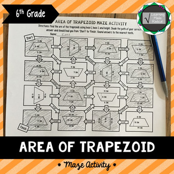 Area of Trapezoid Maze Activity 6.G.A.1