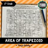 Area of Trapezoid Maze Activity