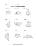 Area of Trapezoid Worksheet