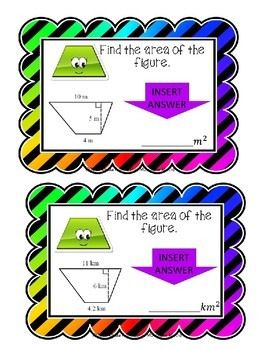 Area of Trapezoids Boom Cards--Digital Task Cards