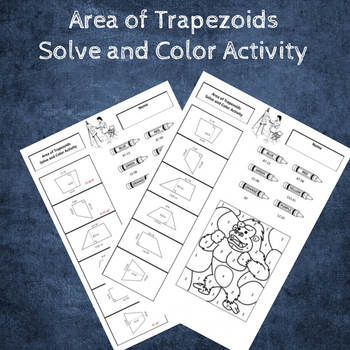 Area of Trapezoids Coloring Activity