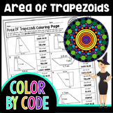 Area of Trapezoids Common Core Math Color By Number or Quiz