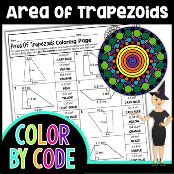 Area of Trapezoids Coloring Page