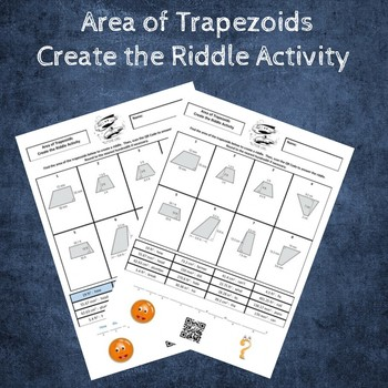Area of Trapezoids Create the Riddle Activity