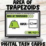 Area of Trapezoids Digital Task Cards Google Slides