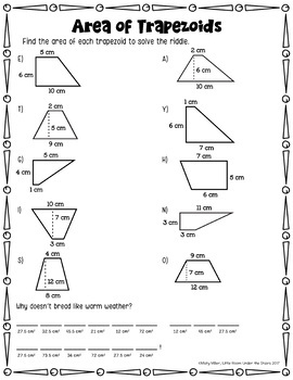 Area of Trapezoids Interactive Notebook