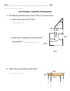 Area of Trapezoids, Parallelograms & Triangles