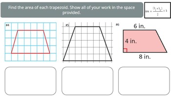 Area of Trapezoids (PowerPoint Lesson and Printables!)