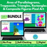 Area of Trapezoids, Rectangles, Triangles & Composite Figu