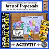 Area of Trapezoids Solve, Color, Cut