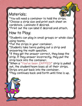 Area of Trapezoids Don't Get ZAPPED Math Game