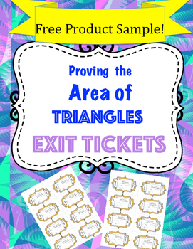 Area of Triangle Exit Tickets