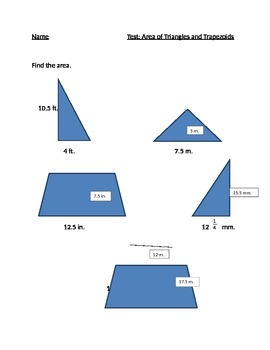 Area of Triangle and Trapezoid