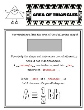 Area of Triangle notes