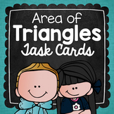 Area of Triangles Task Cards for Centers, Review, Scoot, &