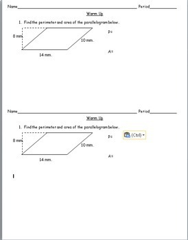 6th Grade Geometry - Area of Triangles