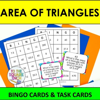 Area of Triangles Bingo