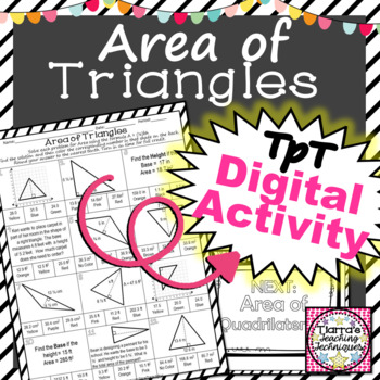 Area of Triangles Worksheet