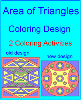 AREA: AREA OF TRIANGLES - COLORING ACTIVITY