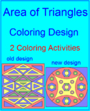 AREA: AREA OF TRIANGLES - 2 COLORING ACTIVITIES