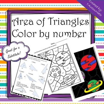 Area of Triangles Coloring Activity