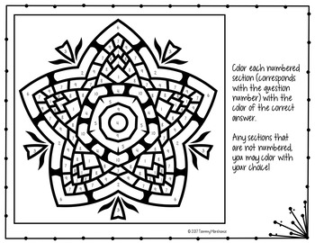 Area of Triangles Coloring Page
