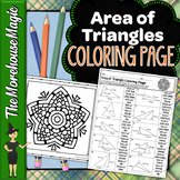 Area of Triangles Common Core Math Color By Number or Quiz