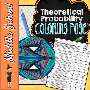 THEORETICAL PROBABILITY COLORING PAGE OR QUIZ