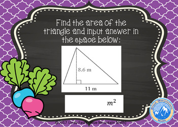 Area of Triangles Digital Task Cards/Boom Cards