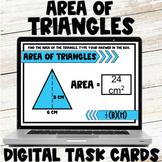Area of Triangles Digital Task Cards Google Slides