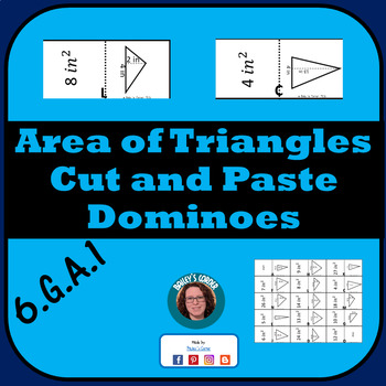 Area of Triangles Dominoes