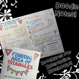 Area of Triangles - Doodle Note Brochure for Interactive Notebooks