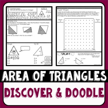 Area of Triangles Doodle Notes