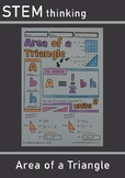 Area of Triangles Notes, Middle School Math