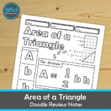 Area of Triangles Doodle Sheet Notes Geometry Test Prep