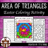 Area of Triangles Easter Coloring Activity