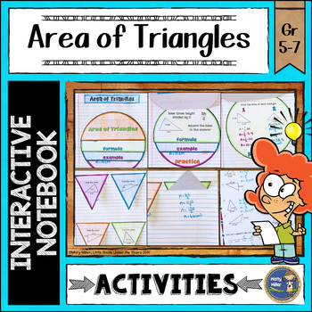 Area of Triangles Interactive Notebook
