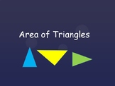 Area of Triangles Lesson - Introduction, Practice - 10 Questions