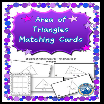 Area of Triangles Matching Card Set