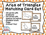 Area of Triangles Matching Card Set  - This set only inclu