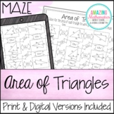 Area of Triangles Maze Worksheet