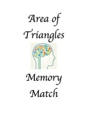 Area of Triangles Memory Match Up!