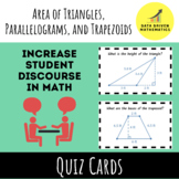 Area of Triangles, Parallelograms, and Trapezoids Quiz Car