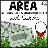 Area of Triangles, Parallelograms, and Trapezoids Task Cards